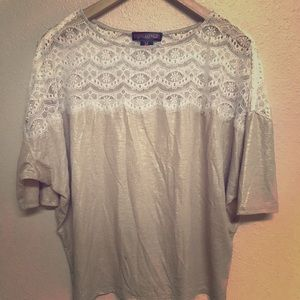 Shimmery Lace Top